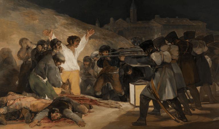 Le tableau Très de Mayo de Francisco de Goya