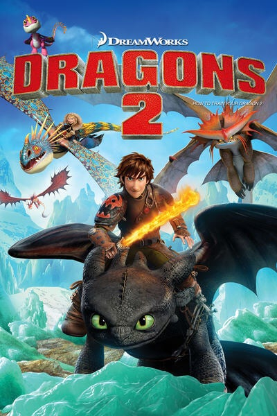L'affiche du dessin animé Dragons 2