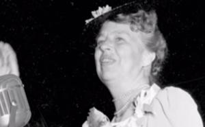 Eleanor Roosevelt pendant un discours