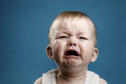 Un bébé en train de pleurer à l'image du petit Albert