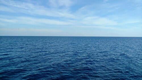 Une mer calme