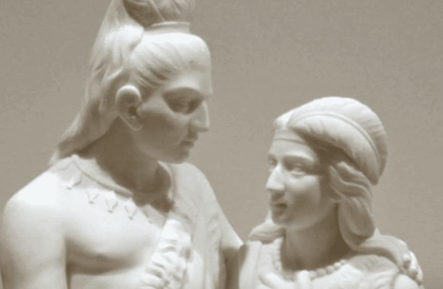 La sculpture d'un homme et d'une femme par Edmonia Lewis