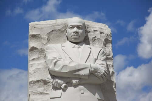 Une statue de Martin Luther King