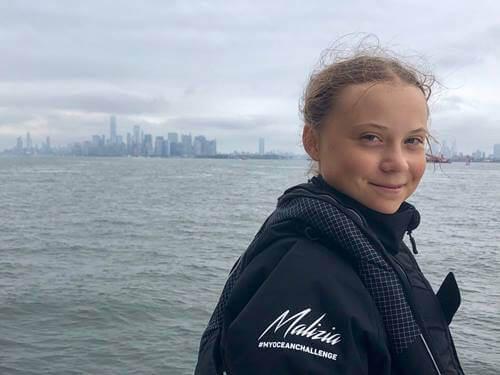 La traversée de l'Atlantique de Greta Thunberg