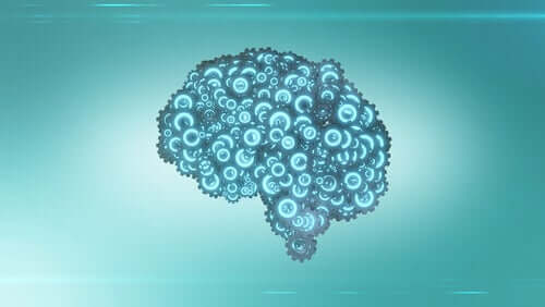 Un cerveau formé par des mécanismes