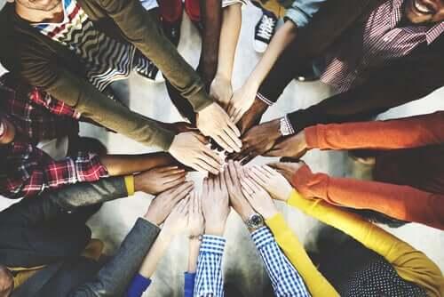 Des mains de personnes unies dans l'entrepreneuriat social