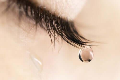 Un larme qui coule d'un oeil