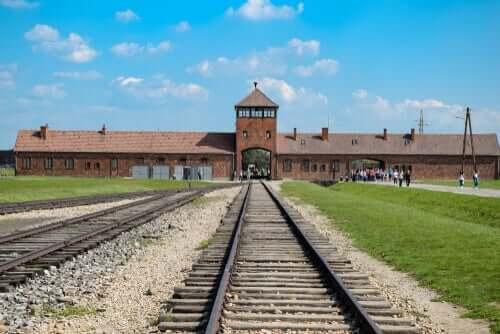 L'ancien camp de concentration d'Auschwitz où a été envoyé Chaim Ferster