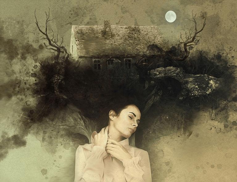 Une femme et la lune