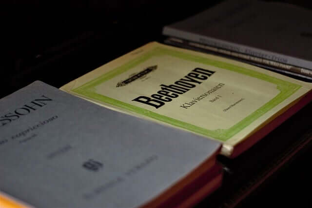 Des livres de compositions de Beethoven