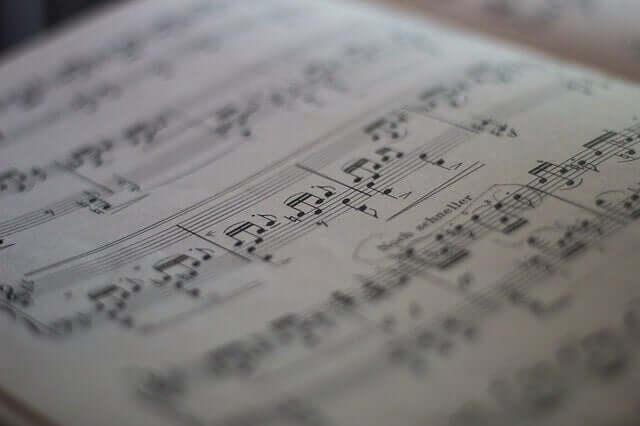 Une partition de musique de Beethoven