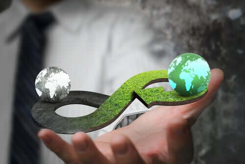 L'économie circulaire représentée en image
