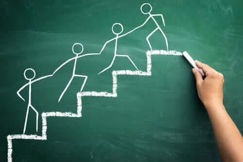 Un dessin représentant la gestion d'une équipe