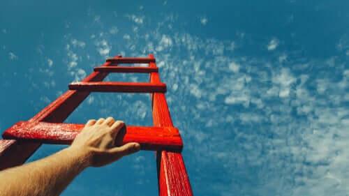 Une échelle vers le ciel représentant la motivation