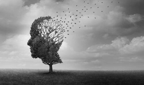 Un arbre en forme de tête d'homme