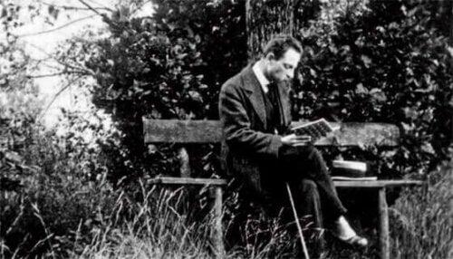 Rainer Maria Rilke sur un banc