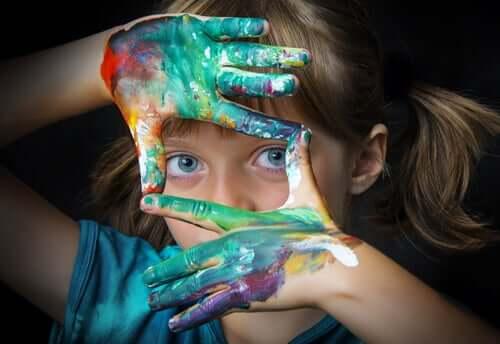 Une fille créative