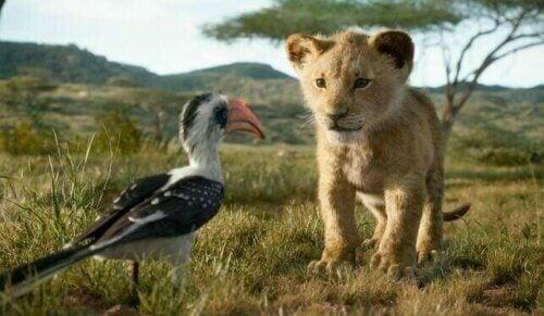 Simba et Zazou dans Le Roi Lion
