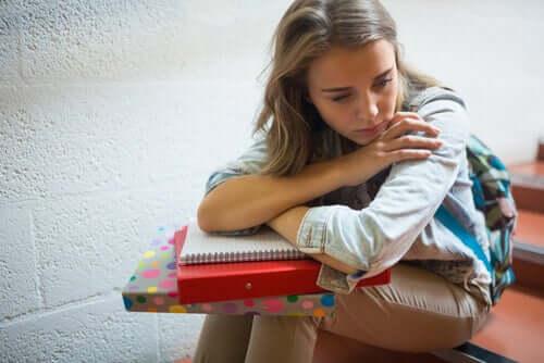 Une étudiante en dépression