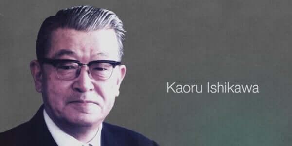 Un portrait de Kaoru Ishikawa, créateur de l'idée du diagramme d'Ishikawa