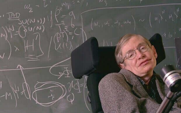 Stephen Hawking en plein cours