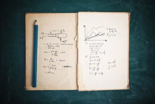Un cahier ouvert avec des notes.