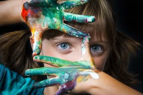 La créativité chez une fillette