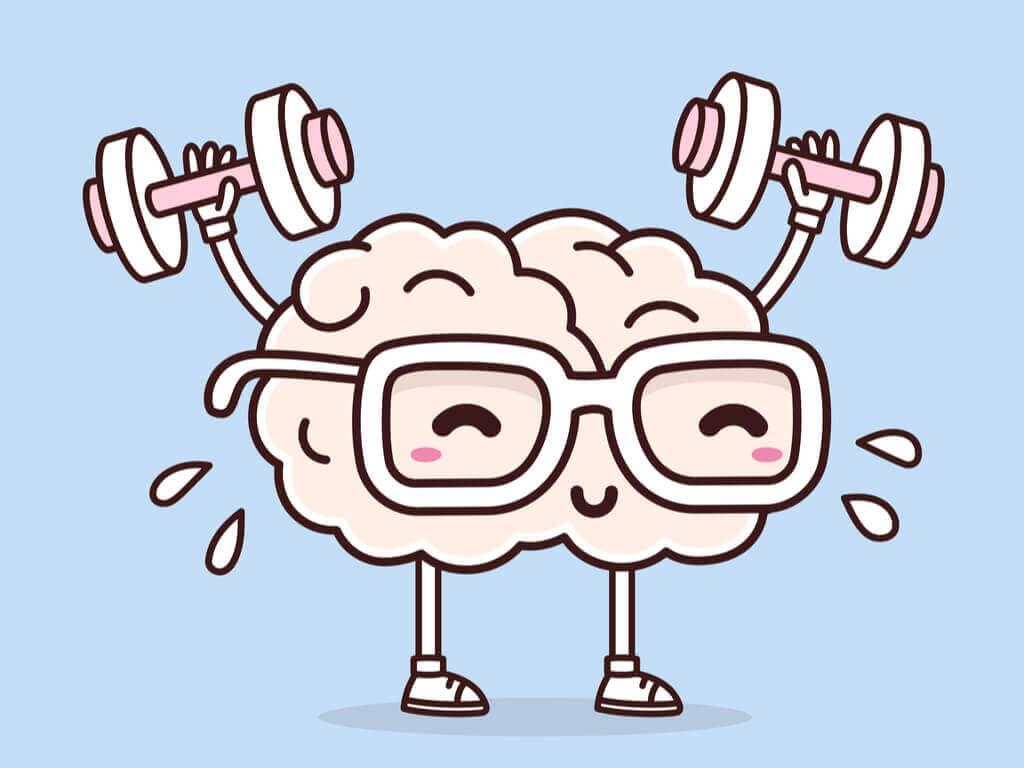 Un cerveau faisant de la neurobique