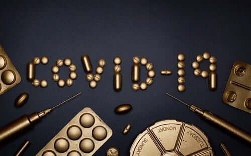 COVID-19 écrit avec des médicaments