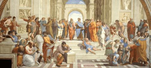 L'Ecole d'Athènes de Raphaël.