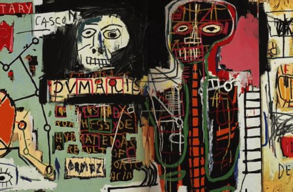 Une oeuvre de Jean-Michel Basquiat.