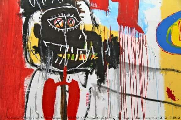 Un graffiti de Jean-Michel Basquiat.