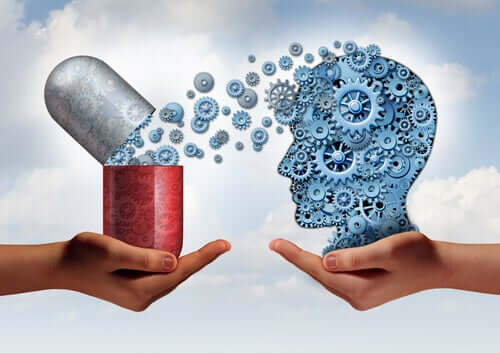 Une pilule libérant une substance dans le cerveau