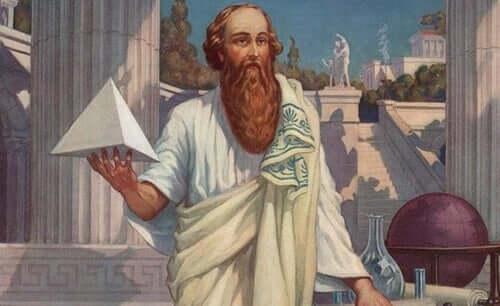 Une peinture mettant Pythagore en scène