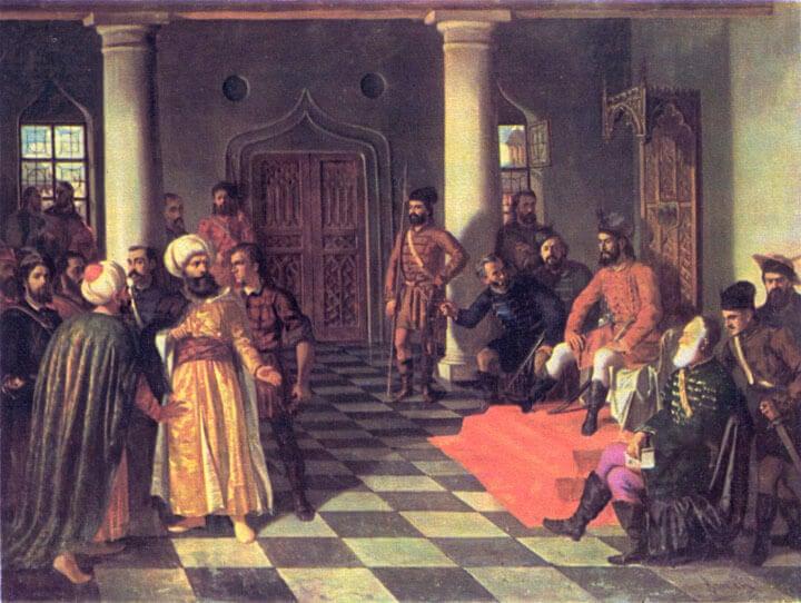 Vlad Tepes et les ambassadeurs turcs par Theodor Aman