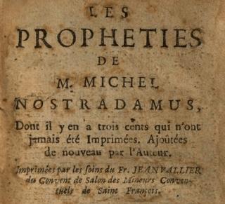 Une page des Prophéties de Nostradamus