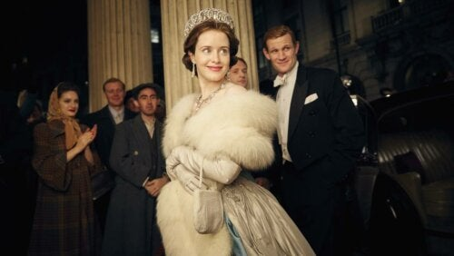 Elisabeth II jeune dans The Crown