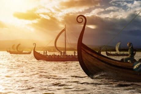 Des bateaux de Vikings