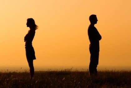 Le divorce d'un couple.