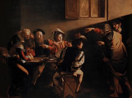 La Vocation de saint Matthieu de Caravage
