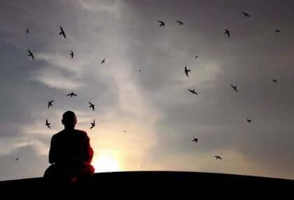 Un moine bouddhiste