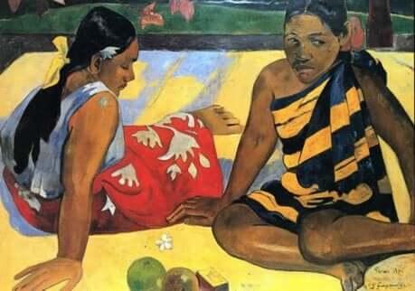 Femmes de Tahiti par Paul Gauguin.