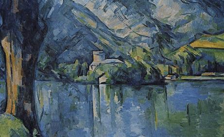 Un paysage peint par Paul Cézanne.