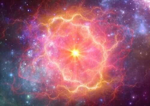 Les cellules en lumière d'une supernovae.