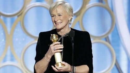 Glenn Close aux Golden Globes.