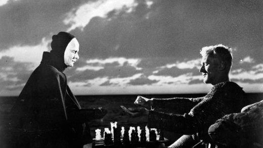 Une scène tirée du Septième Sceau d'Ingmar Bergman.
