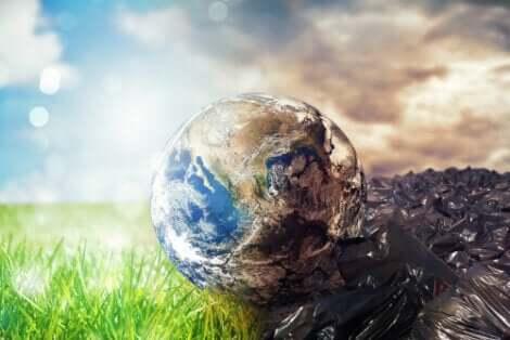 La pollution de la Terre donne lieu à l'éco-anxiété.