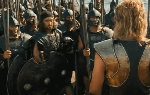 Achille et son armée.