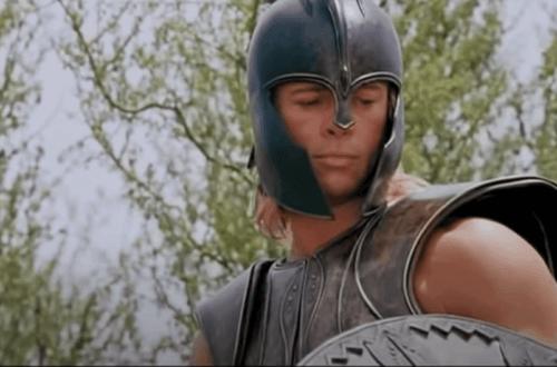 Brad Pitt en tant qu'Achille.