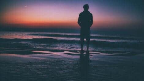 Un coucher de soleil sur la mer.